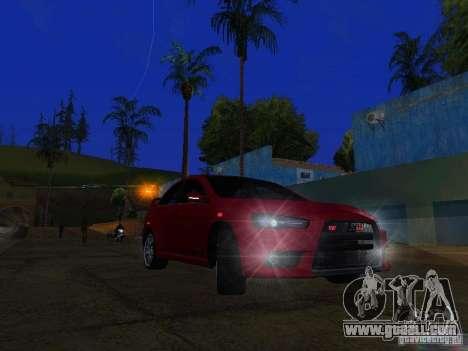 Mitsubishi Lancer Evo X for GTA San Andreas