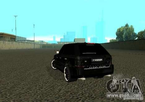 Land Rover Range Rover Sport Hamann for GTA San Andreas back left view