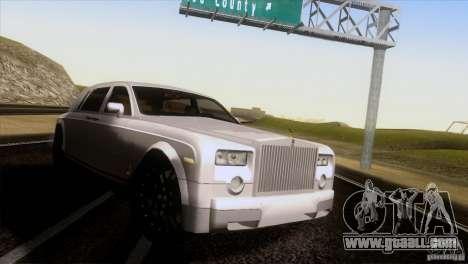 Rolls Royce Phantom Hamann for GTA San Andreas back left view
