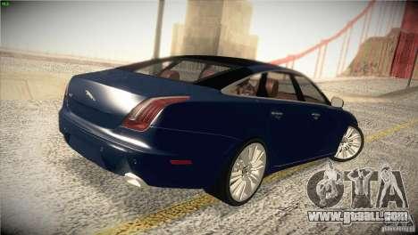 Jaguar XJ 2010 V1.0 for GTA San Andreas upper view
