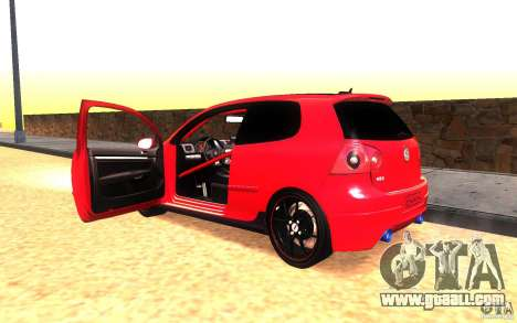 VolksWagen Golf GTI MK5 for GTA San Andreas inner view