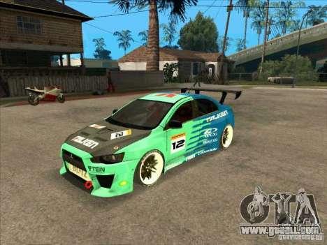 Mitsubishi Evo X Falken for GTA San Andreas
