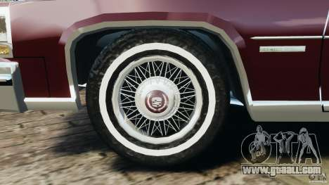 Cadillac Fleetwood Brougham Delegance 1986 for GTA 4 bottom view