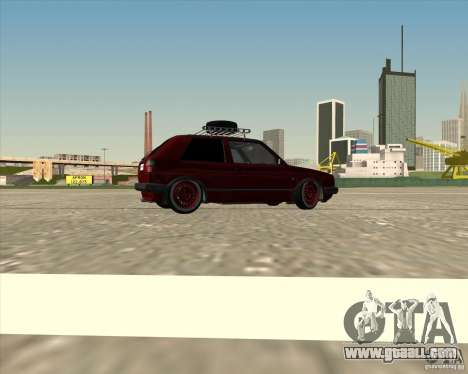 VW Golf II Shadow Crew for GTA San Andreas bottom view