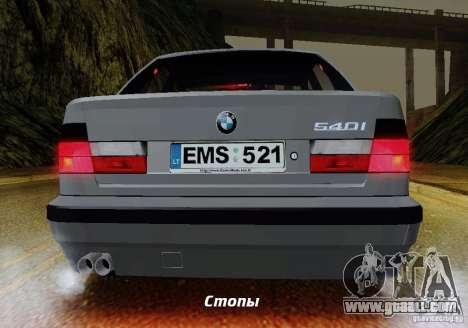 BMW E34 540i Tunable for GTA San Andreas interior