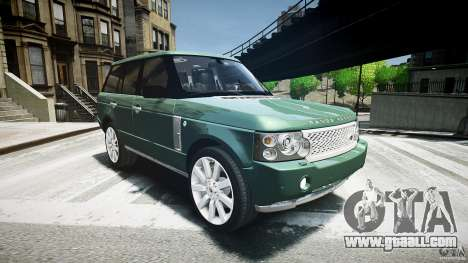 Range Rover Supercharged v1.0 for GTA 4 back view
