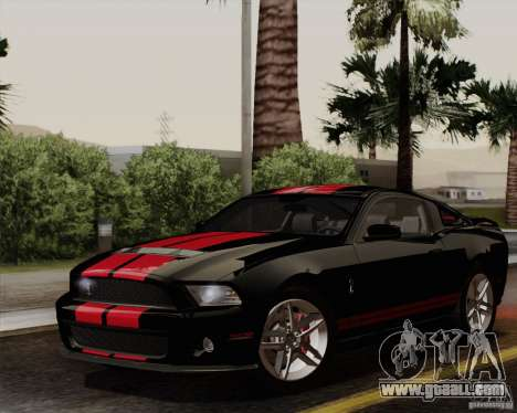 Ford Shelby GT500 2011 for GTA San Andreas right view