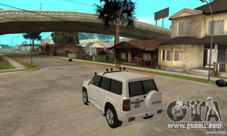 Nissan Patrol 2005 for GTA San Andreas back left view
