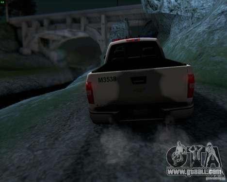 Chevrolet Silverado Police for GTA San Andreas side view