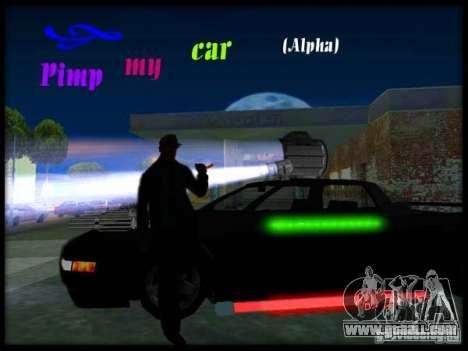 Pimp my Car Final for GTA San Andreas second screenshot