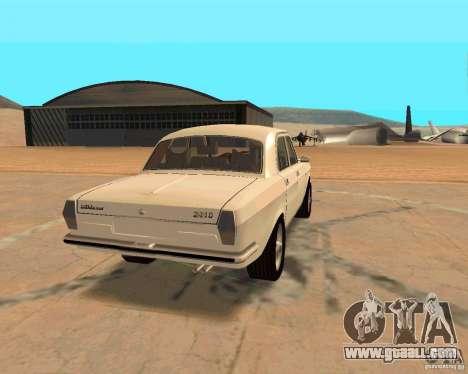 GAZ Volga 2410 Hot Road for GTA San Andreas inner view