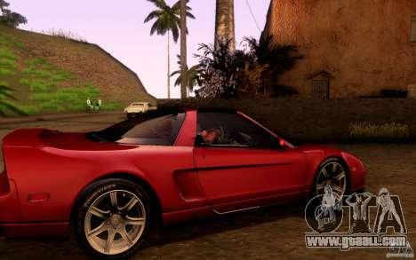 Acura NSX Targa for GTA San Andreas inner view