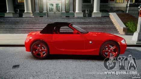 BMW Z4 Roadster 2007 i3.0 Final for GTA 4 side view