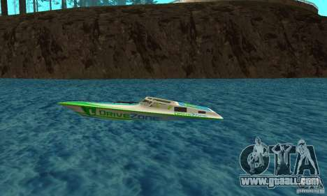 Speed Motorboat for GTA San Andreas left view
