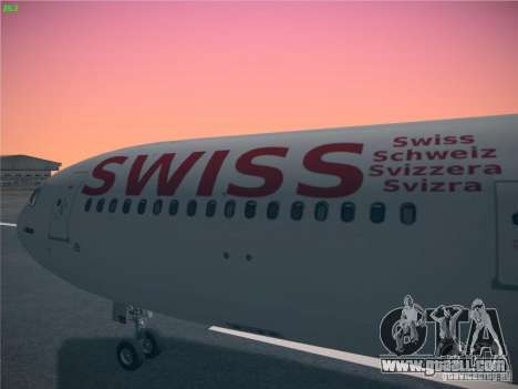 Airbus A340-300 Swiss International Airlines for GTA San Andreas right view
