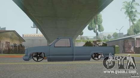 Chevrolet Silverado Mini Truckin 1996 for GTA San Andreas right view