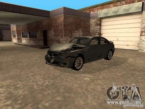 BMW M5 E60 2009 v2 for GTA San Andreas interior