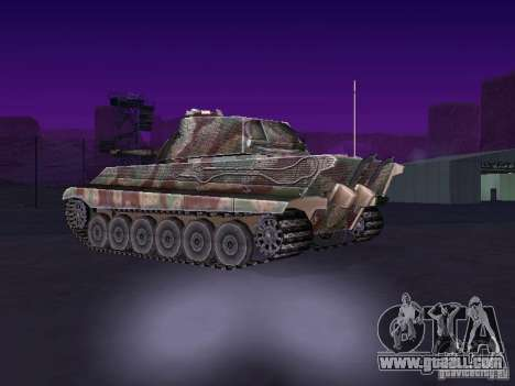 Pzkpfw VII Tiger II for GTA San Andreas back left view
