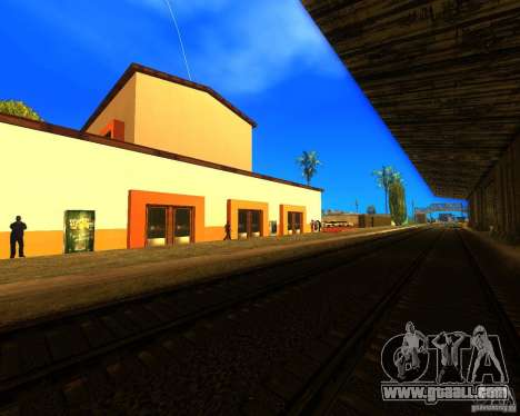 A bustling train station in Los Santos for GTA San Andreas