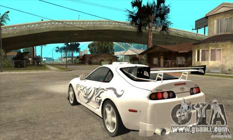 Toyota Supra NFSMW Tunable for GTA San Andreas back view