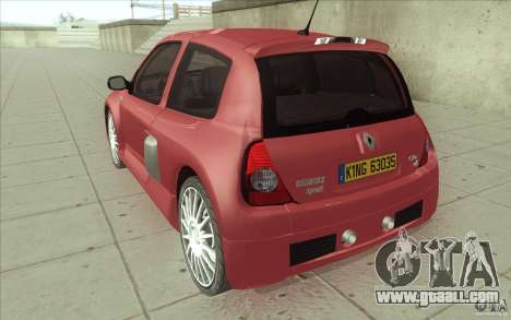 Renault Clio V6 for GTA San Andreas back left view