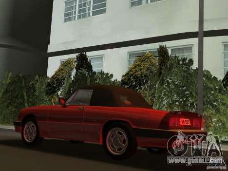 Alfa Romeo Spider 1986 for GTA Vice City back left view