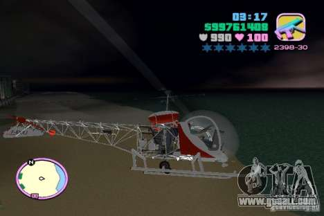 Bell 47 for GTA Vice City inner view