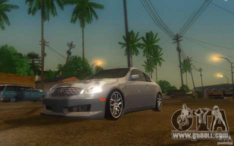 Infiniti G35 - Stock for GTA San Andreas left view