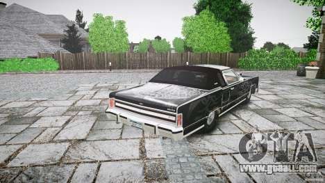 Lincoln Continental Town Coupe v1.0 1979 for GTA 4 upper view