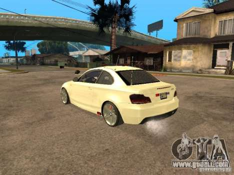Bmw 135i coupe Police for GTA San Andreas left view