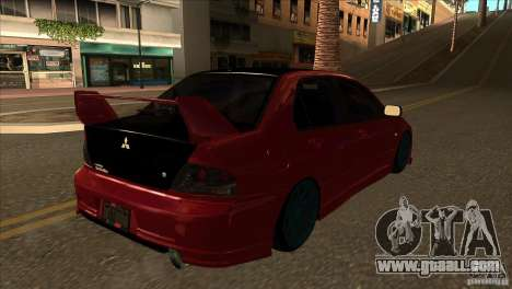 Mitsubishi Lancer Evo 8 Street Drift for GTA San Andreas right view
