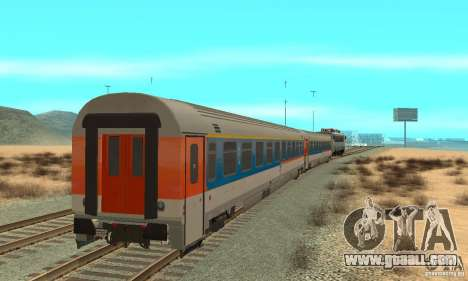 Mav V63 w AMX Inter-City Wagons for GTA San Andreas back left view