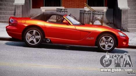 Dodge Viper SRT-10 2003 1.0 for GTA 4 back view