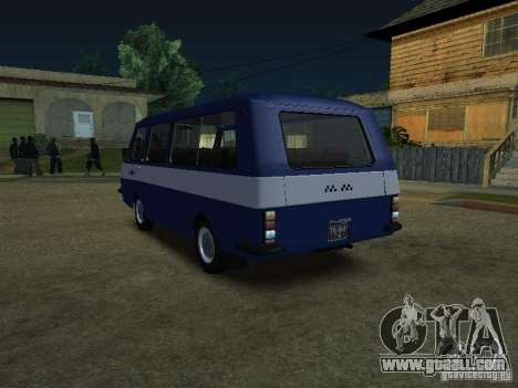 RAF Latvia 2203 Taxi for GTA San Andreas back left view
