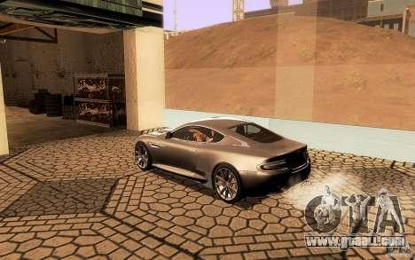 Aston Martin Virage V1.0 for GTA San Andreas interior