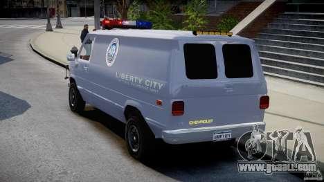 Chevrolet G20 Police Van [ELS] for GTA 4 back left view