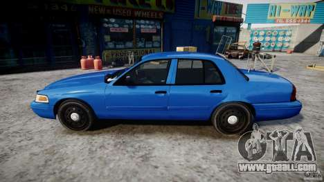Ford Crown Victoria Detective v4.7 [ELS] for GTA 4 left view