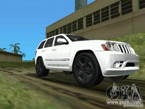 Jeep Grand Cherokee SRT8 TT Black Revel for GTA Vice City back left view