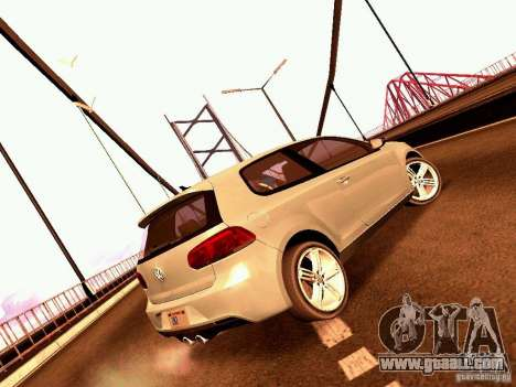 Volkswagen Golf R 2010 for GTA San Andreas left view