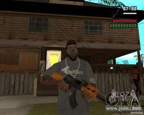 AK 47 of Xenus 2 for GTA San Andreas third screenshot