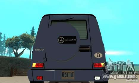 Mercedes-Benz G500 1999 Short [with kangoo v3] for GTA San Andreas back view