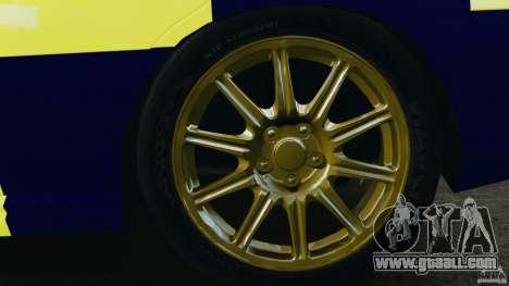 Subaru Impreza British ANPR [ELS] for GTA 4 side view
