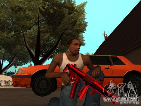 Red Chrome Weapon Pack for GTA San Andreas seventh screenshot