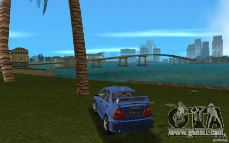 Mitsubishi Lancer Evo VI for GTA Vice City back left view