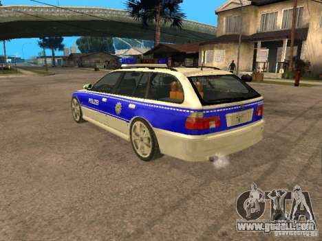 BMW 525i Touring Police for GTA San Andreas left view