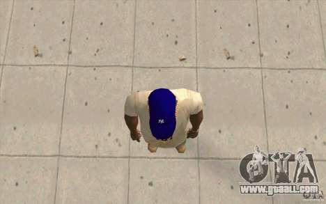 Cap newyorkyankiys purple for GTA San Andreas third screenshot