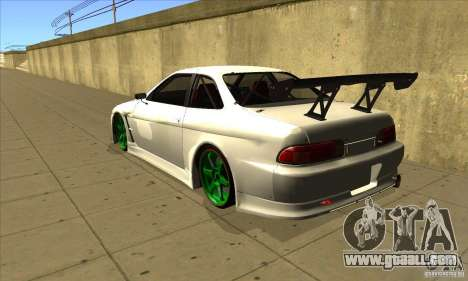 Toyota Soarer for GTA San Andreas back left view