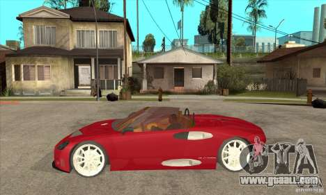 Spyker C8 Spyder for GTA San Andreas left view