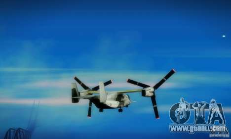 MV-22 Osprey for GTA San Andreas back view