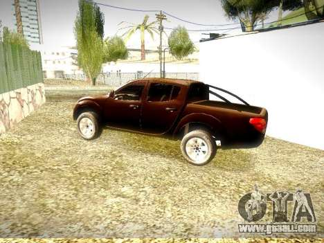 Mitsubishi L200 Stock for GTA San Andreas back left view